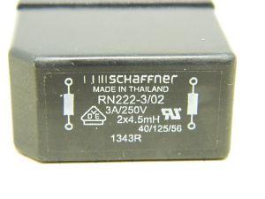 Filtro rete SCHAFFNER RM222-3/02,  3A 250Vac 50/60Hz, montaggio da circuito stampato