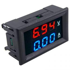 Voltmetro Amperometro digitale 100Vcc 10A LCD