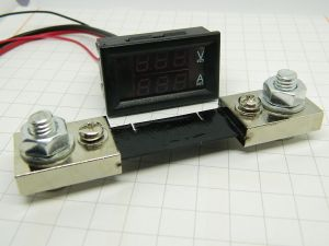 Voltmeter Ammeter display LCD 100Vdc 100A with shunt