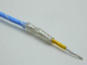 Cavo schermato 1xAWG26 Kapton/Teflon bianco azzurro argentato 2micron , space cable
