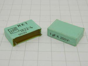 1uF 250Vcc condensatore ERO MKT1822-4  (n.2 pezzi)