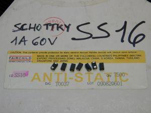 SS16  Schottky diode SMD 1A 60V (n.10pcs.)