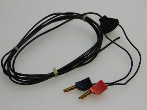Connettore banana Multicontact placcata oro con cavo mt. 2 (n.2 pezzi)