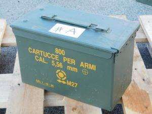 Ammunition steel box cm. 30x15,5x18,5 #A