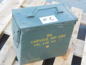 Ammunition steel box cm. 30x15,5x26  #C
