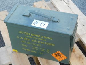 Ammunition steel box cm. 37x15,5x24  #D