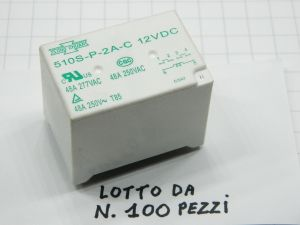 Relè SONG CHUAN 510S-P-2A-C 12Vcc 48A 2 poli  (n.100 pezzi)