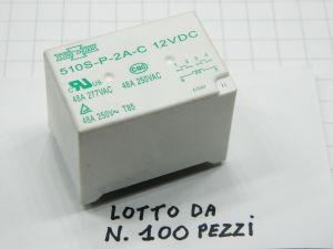 Relay SONG CHUAN 510S-P-2A-C 12Vdc 48A 2 poles (n.100pcs.)