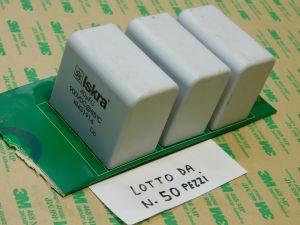 40uF 900Vdc capacitor MKP polypropylene ISKRA KNG1914 n.3pcs. on circuit board (n.50pcs.)