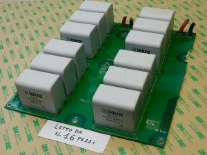 40uF 900Vcc condensatore MKP polipropilene ISKRA KNG1914 n.12 pezzi montati su scheda (LOTTO da n.16 SCHEDE)
