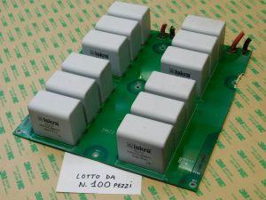 40uF 900Vcc condensatore MKP polipropilene ISKRA KNG1914, n.12 pezzi montati su scheda ( LOTTO da n.100 SCHEDE)