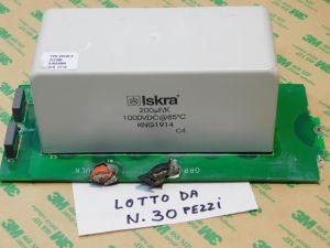 200uF 1000Vcc condensatore ISKRA MKP KNG1914 polipropilene , montato su scheda, (PREZZO per LOTTO da n.30 PEZZI)