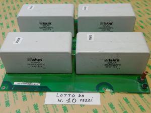200uF 1000Vcc condensatore ISKRA KNG1914 MKP ,rifasamento ,n.4 pezzi montati su scheda (LOTTO da n.10 SCHEDE)