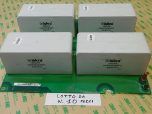 200uF 1000Vdc capacitor ISKRA KNG1914 MKP , metallized polypropylene n.4pcs. on pcb. (PRICE for LOT of n.10 PCB)