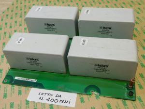 200uF 1000Vcc condensatore ISKRA KNG1914 MKP ,rifasamento ,n.4 pezzi montati su scheda (LOTTO da n.100 SCHEDE)