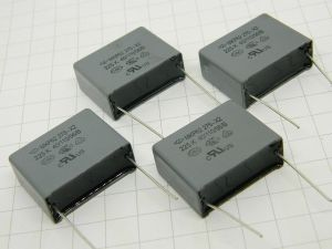 2,2uF 275Vac condensatore polipropilene MKP62 275-X2 225K (n.4 pezzi)