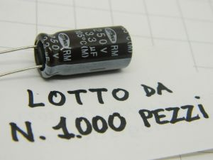 33uF 250Vcc condensatore elettrolitico SAMWHA RM 105°C(M)  (n.1000 pezzi)