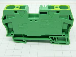 Morsettiera di terra WEIDMULLER ZPE16 cavo 16mmq. giallo verde barra DIN