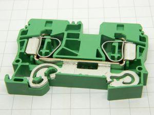 Morsettiera di terra WEIDMULLER ZPE10 cavo 10mmq. giallo verde barra DIN