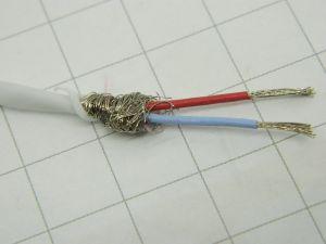 Cavo schermato 2xAWG22 Teflon bianco Rhodium