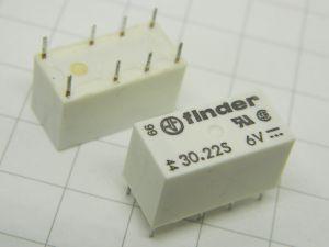 Relè Finder 30.22S  bobina 6Vcc 2scambi (n.2 pezzi)