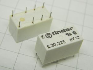 Relay Finder  30.22S  coil 6Vcc 2DPDT (n.2pcs.)
