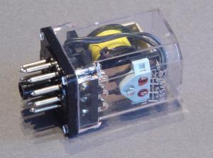 Relay ITT RM83 32.24  coil 24Vac 3DPDT socket undecal