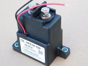 Contattore relè 24Vcc 100A  HFE18-100 24-HL4