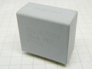 20MF 700V 5% capacitor MKP VISHAY 1848  (n.91pcs.)