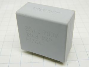 20uF 700V 5% condensatore MKP VISHAY 1848  (lotto da n.91 pezzi)