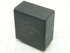 22uF 230Vac condensatore VISHAY MKP 1847 polipropilene