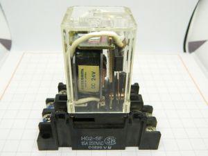 Relay 24Vdc Matsushita HG2-DC24V , 2 way 250Vac 20A  with socket