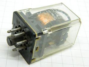 Relè ITT RM83 22.24N  bobina 24Vcc 2scambi 250Vac 10A  zoccolo octal