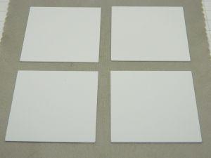 "Ceramic substrate alumina 96% mm.50,8x50,8x0,63   2""x2""x0,05"" Rubalit 708S  (n.4pcs.)"