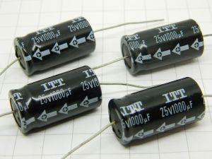 1000MF 25Vdc axial capacitor  ITT (n.4pcs.)