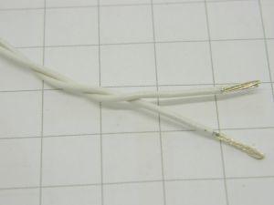 Cavo in alluminio 2xAWG18 Tefzel  conduttori  argentatati 2micron