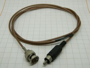 Cable  BNC-male/PIN JACK-male  Teflon insulated  m.1,5