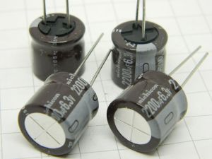 2200uF 6,3Vdc capacitor Nichicon PD(M) 105° (n.4pcs.)