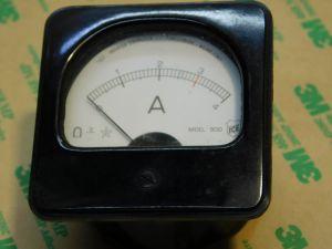 Amperometro 4Acc  ICE mod.500  mm.60x60 vintage