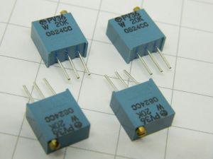 Trimmer multigiro 20Kohm verticale (n.4 pezzi)