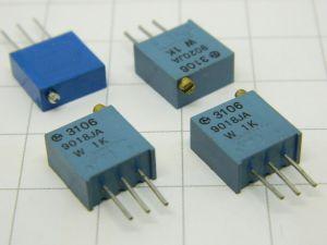 Trimmer multigiro 1Kohm verticale (n.4 pezzi)