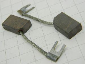 Spazzola carbonio grafite mm.12x6x20 , contatto elettrico per motori o parti mobili.