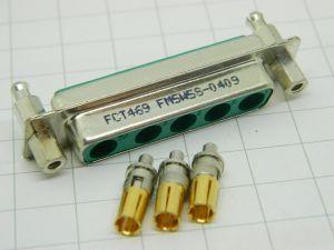 Connettore DB5  D-SUB FM5W5S 0409 5fori 3pin 30A