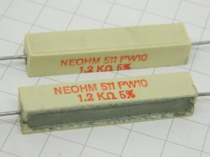 1,2Kohm 10W resistor (n.2pcs.)