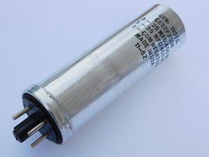 35+35uF 450Vcc condensatore elettrolitico General Instruments GE52F350R,  vintage 1962