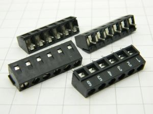 Terminal board 6 poles printed circuit  mm.5   (n.4pcs.)