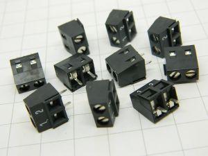 Morsettiera 2 posti circuito stampato passo mm.5  (n.10 pezzi)