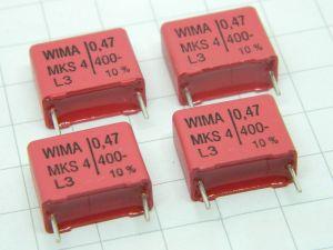 0,47uF 400V condensatore WIMA MKS4 (n.4 pezzi)