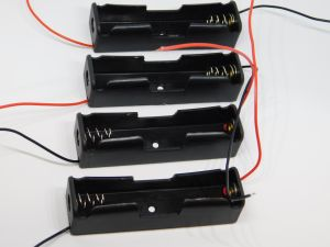 Porta batteria 18650 al Litio  (n.4 pezzi)