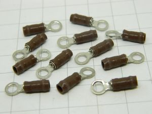 Housings Teflon brown  insulated  mm.3,  wire 1,5mmq. (n.12pcs.)